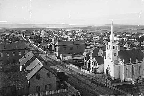 arial street view of a part of Eureka